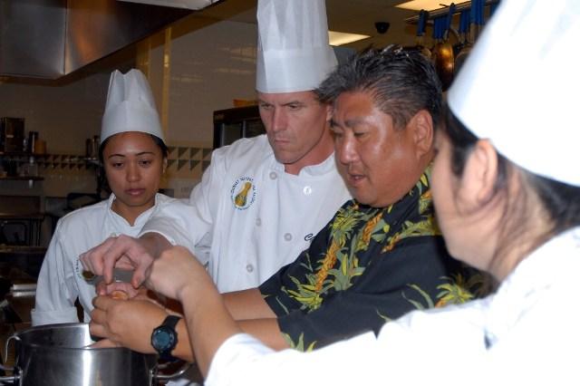 Chef Alan Wong Cooking