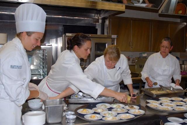 Chef Nancy Oakes & Chef Pamela Mazzola + Staff