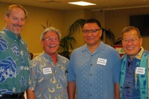 L-R Ryan Day, Brooks Takenaka, Donald Maruyama, and Conrad Nonaka